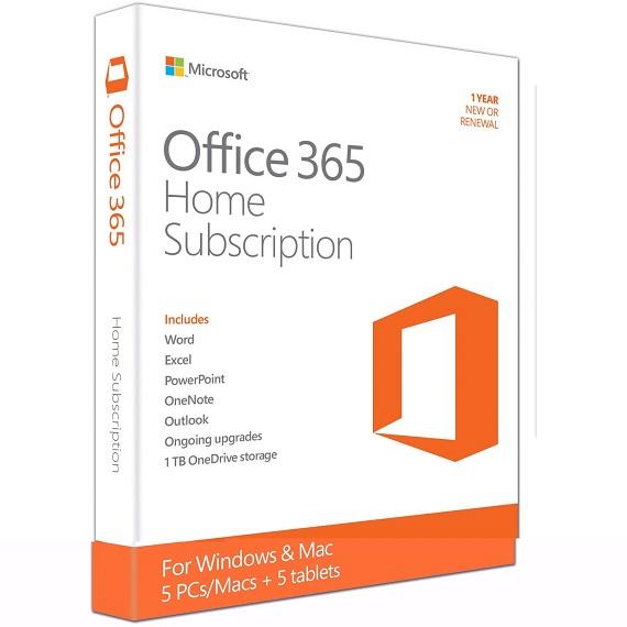 Phần mềm Office 365 Home English APAC EM Subscription 1YR Medialess P2 (6GQ-00757)