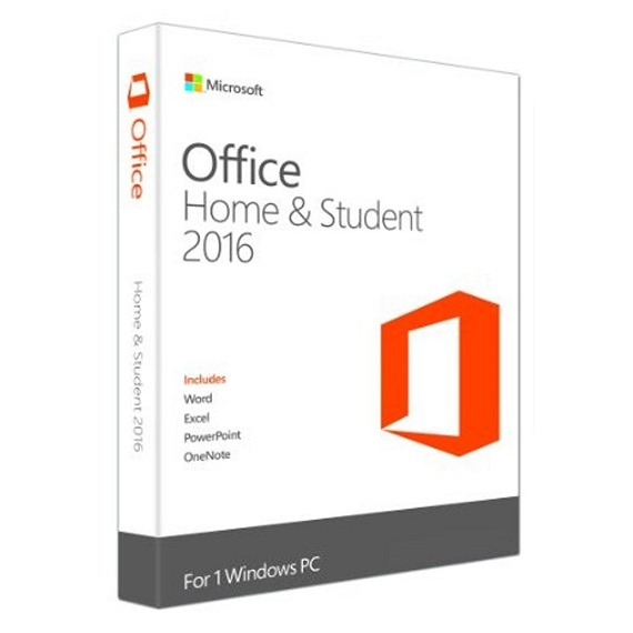 Phần mềm Office Home and Student 2016 Win English APAC EM Medialess P2 (79G-04679)