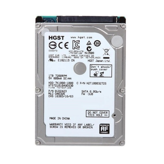 Ổ cứng Notebook HDD HGST 1TB 2.5 inch sata 3 (7200rpm)