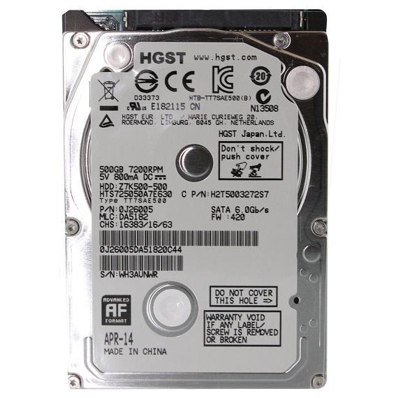Ổ cứng Notebook HDD HGST 500GB 2.5 inch sata 3 (5400rpm)