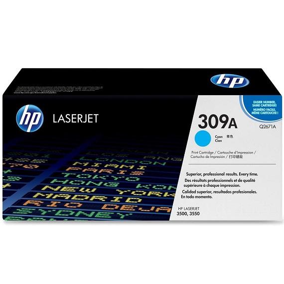 Mực in HP 309A (Q2671A) màu xanh dùng cho máy Laser màu HP 3500 / 3550