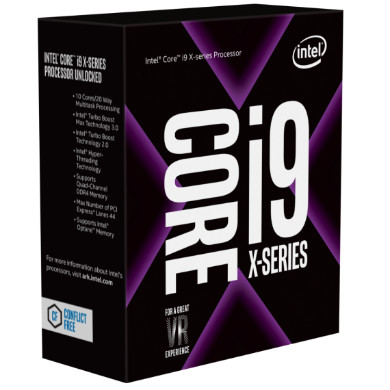 Intel Core i9 - 7900X 3.3 GHz Turbo 4.3 Up to 4.5 GHz / 13.75 MB / 10 Cores, 20 Threads / socket 2066