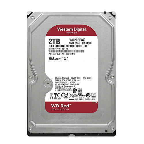 Ổ CỨNG HDD NAS WD RED 2TB SATA3 5400RPM (WD20EFAX)