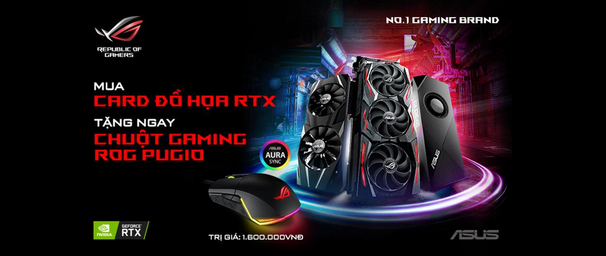 Mua card đồ họa RTX tặng chuột gaming